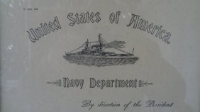 1931 United State Of America Navy Department Midshipman