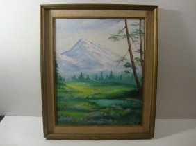 Linda Grant Vintage Landscaping Oil Painting On Canvas