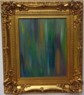 Abstract Original Oil Painting Signed By The Artist