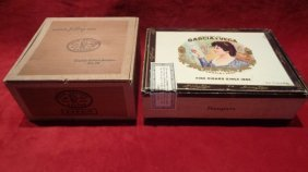 Lot Of 2 Vintage Cigar Box