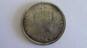 1903 Straits Settlements Edward Vii One Dollar Silver