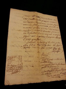 1779 Antique French 8 Pages Document