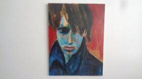 Original Oil Painting On Canvas Face