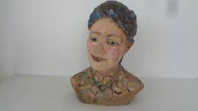 Lois B Herrick Whimsical Ceramic 3d Sculpture