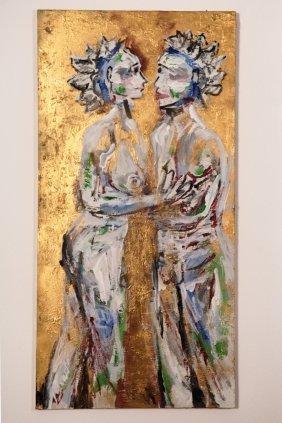 Large Original Contemporary Art- Lois Herrick Painting