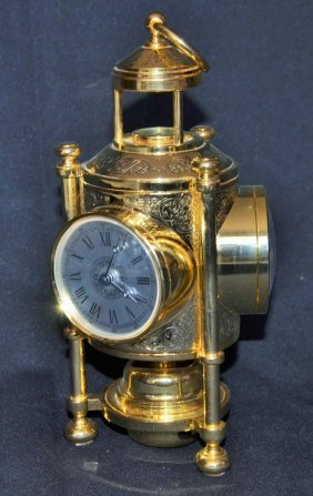 Decorative Table Clock With Barometer And Thermometer
