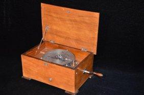 Edelweiss Disc Music Box In Precious Wood Housing