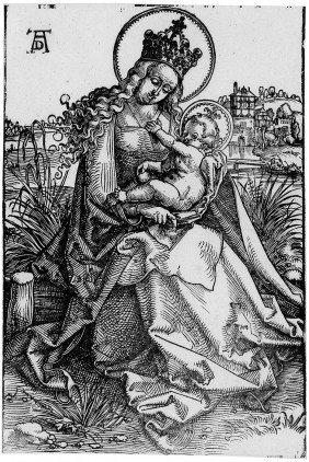 Baldung, Hans: Maria Mit Dem Kind Auf Der Rasenba