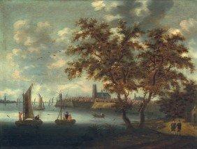 Niederl�ndisch, 17. Jh: Ansicht Von Dordrecht Mit
