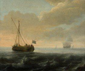 Vlieger, Simon De: Schiffe Auf Ruhiger See, Dreim