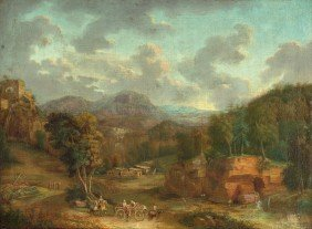 Niederl�ndisch, Um 1700: Idyllische Weite Berglan