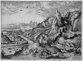 Cock, Hieronymus: Landschaft Mit Abraham Und Isaa