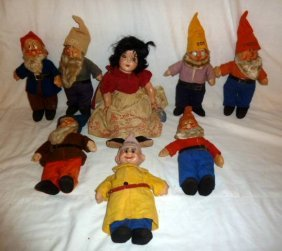1938 Snow White Ideal Doll & 7 Dwarfs