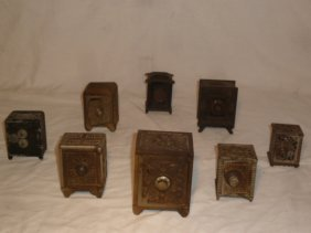 Collection Of 8 Still Banks 1900's