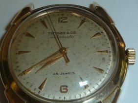 14kt Tiffany/movado Men's Watch 28 Jewels