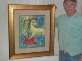 Marc Chagall Gouache Fake
