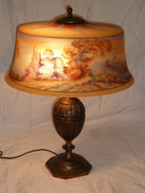 Antique Signed Pairpoint Table Lamp