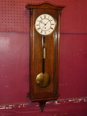 German Long Drop Regulator Clock Rosewood Case
