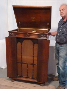 Victor Victrola Credenza, Mahogany Case