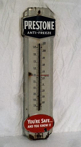 1940's Prestone Anti-freeze Thermometer