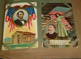 Vintage Postcard Album Coney Island Holiday Ships