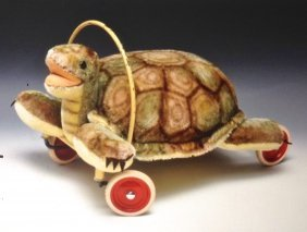 Steiff Child's Ride-on Turtle, 20.6""