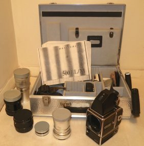 Hasselblad 500 El Camera With Lenses & Case