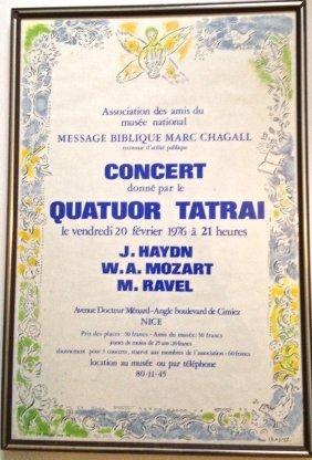 "Marc Chagall, ""message Biblique"" C. Sorlier 1976"