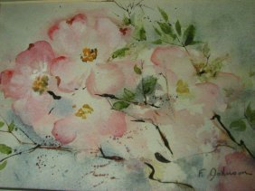 FANNIE JOHNSON WATERCOLOR DOGWOODS