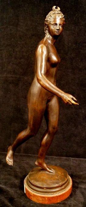 Bronze Figure Diana Sgn. Houdon