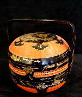 Asian Lacquer Wedding Basket