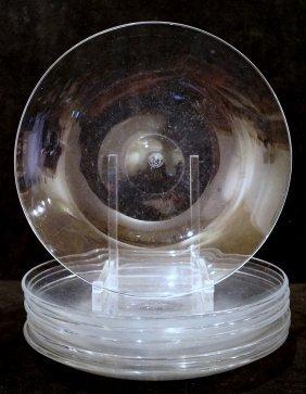 7 Baccarat Crystal Plates