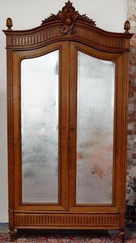 Louis Xv Style Mirrored Door Armoire
