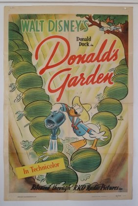 "Rko Promotional Poster Walt Disney Presents ""donald"