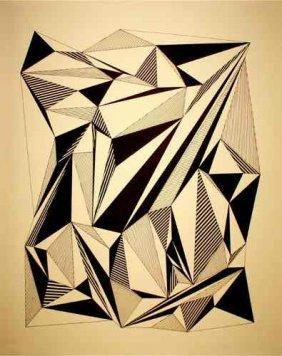 Frank Stella - (attrib)