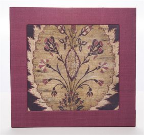 A Persian Safavid Textile Fragment C.18th Century