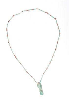 Ancient Egyptian Faience Beads Necklace C.300 Bc