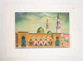 Islamic Art Rostoci Studio Print On Paper With Mosque