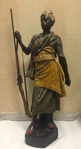 Large Austrian Polychrome Figure Of Middle Eastern Man