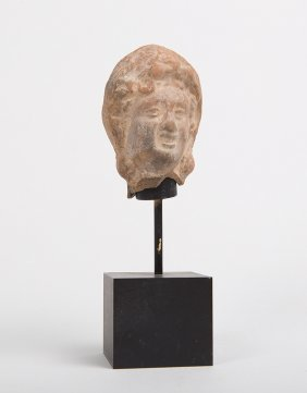 Ancient Roman Egypt Terracotta Head C.1st-2nd Century