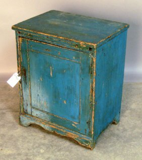 Painted Pine Cabinet, 19th C., 25 1/2'' H., 20 1/4