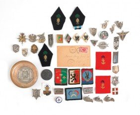 Group Of Thirty Badges, Together With Two Medals