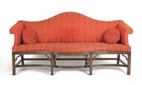 Chippendale Style Mahogany Sofa, 38 3/4'' H., 79''