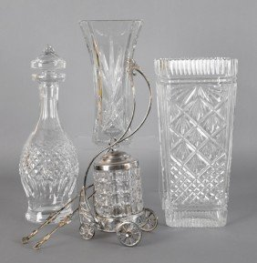Three Pieces Of Waterford Crystal, 20th C., Toget