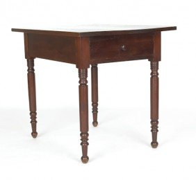 Sheraton Walnut Work Table, Ca. 1830, 30'' H., 26