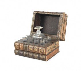 Book Form Cordial Set, 7 1/2'' H., 10'' W.