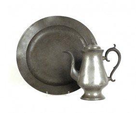 Boardman Pewter Coffee Pot, 11 1/2'' H., Together