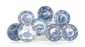 Group Of Blue And White Porcelain, To Include Sta