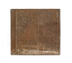 Stiegel Of 1758 Iron Stove Plate, 24'' X 26''.