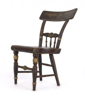 Miniature Baltimore Painted Fancy Chair, Mid 19t
